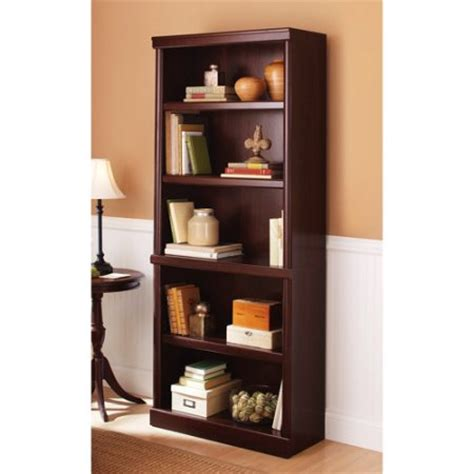 walmart book shelves better homes and gardens ashwood road 5 shelf bookcase