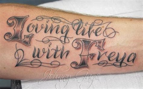 tattoo lettering john 45 awesome font tattoo designs