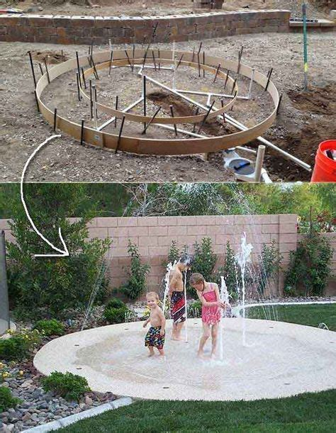 backyard splash pad diy these 27 diy backyard projects for summer are extremely