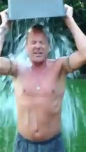 shirtless kiefer sutherland takes on als ice bucket
