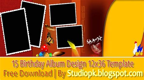 happy birthday album design 15 birthday album design 12x36 template free download by