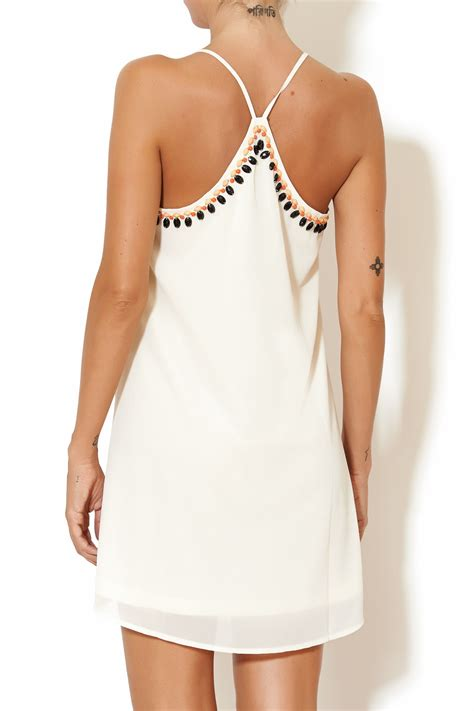 beaded tank dress the clothing co beaded tank dress from los angeles by rich