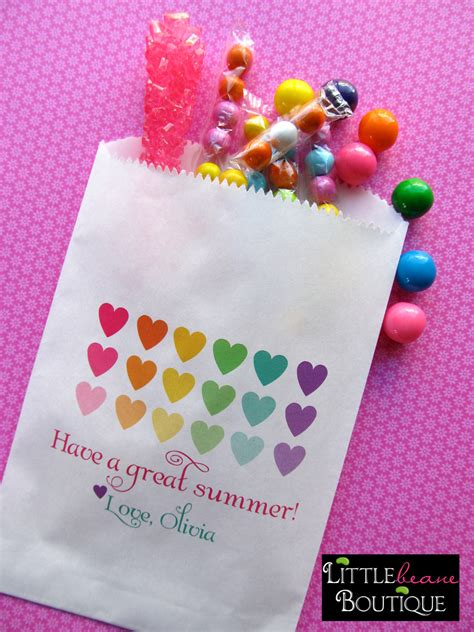 Personalized Candy Bags Hearts Favor Bags Candy Buffet Favor Bags For Buffet
