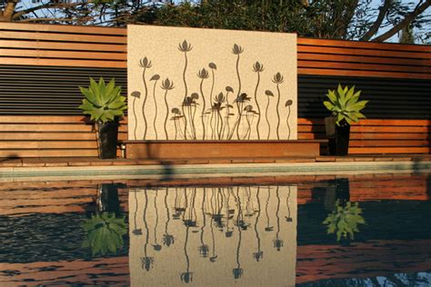 Outdoor Feature Walls Ideas Outdoor Wall Water Feature Backyard Feature Wall Ideas