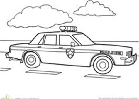 preschool coloring pages of cars transportation coloring page police car police cars
