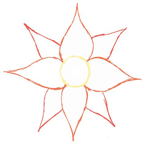 basic flower outline clipart best clipart best