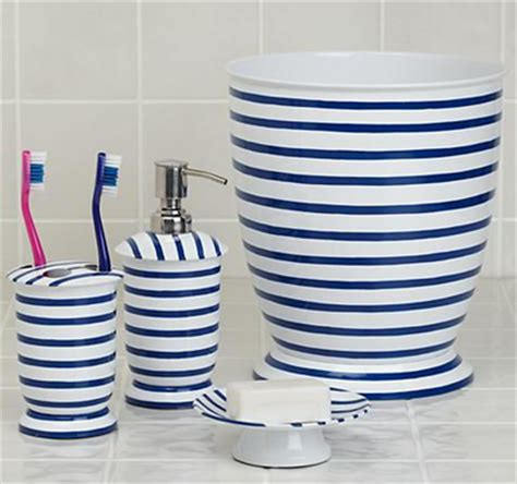 Navy Blue And White Bathroom Accessories Nautical Blue Anchor Bathroom Accessories