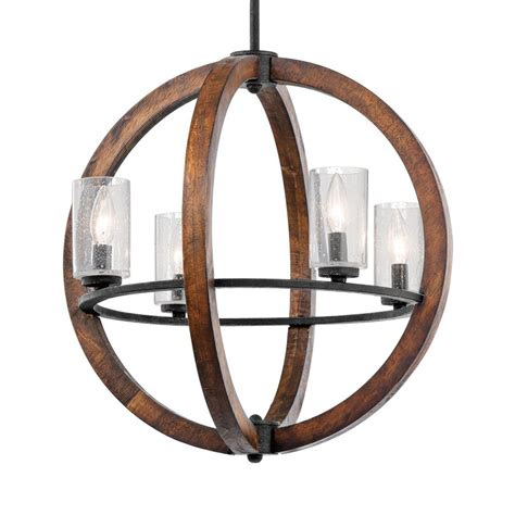hanging light not hardwired shop kichler grand bank 20 in auburn rustic hardwired