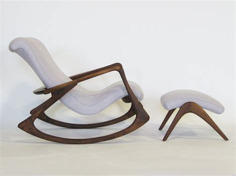 most comfortable reclining garden chair contour rocking chair and ottoman by vladimir kagan at 1stdibs
