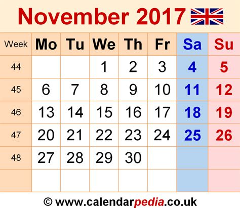 printable calendar november 2017 uk calendar november 2017 uk bank holidays excel pdf word