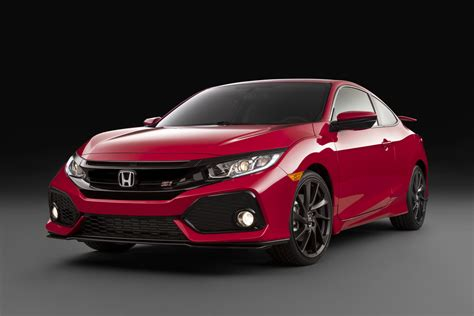 honda civic 2017 coupe 2017 honda civic si coupe revealed 1 5t upgraded for si duty