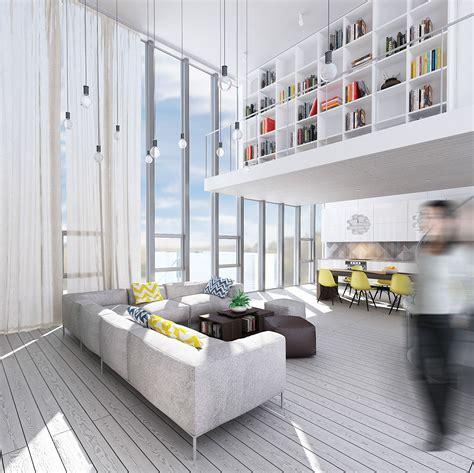 wondrous white  lofts  clean bright interiors