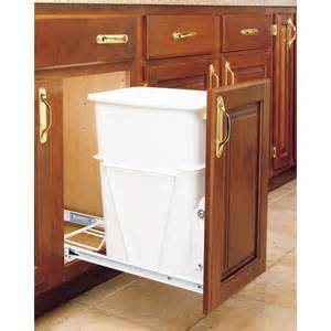 Kitchen Garbage Cabinet by Shop Rev A Shelf 35 Quart Plastic Pull Out Trash Can At