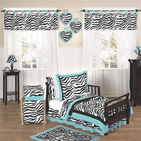 Zebra Print Bedroom Set | zebra turq toddler bedroom set choose the best zebra print