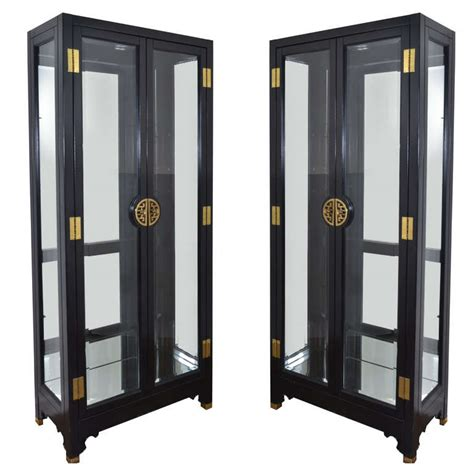 pair of american of martinsville display cabinets at 1stdibs