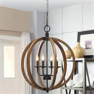 Spherical Chandelier Rustic 4 Light Orb Chandelier Globe Pendant Lighting