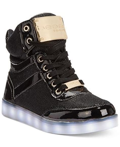 bebe athletic shoes bebe sport krysten high top light up sneakers sneakers