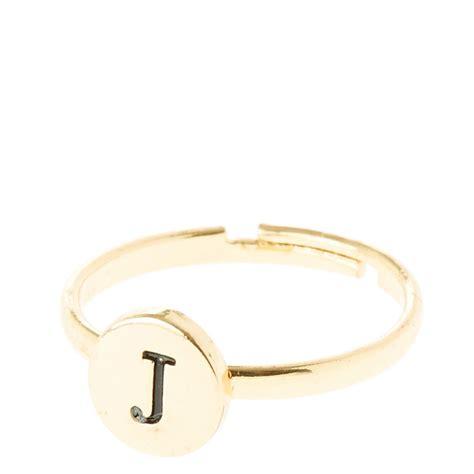gold circle j initial ring icing ca