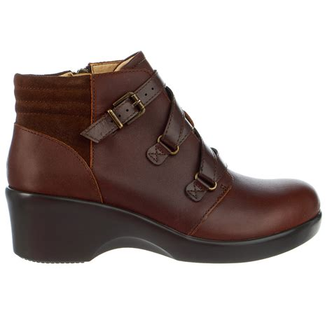 alegria indi ankle bootie wedge casual heel boot womens