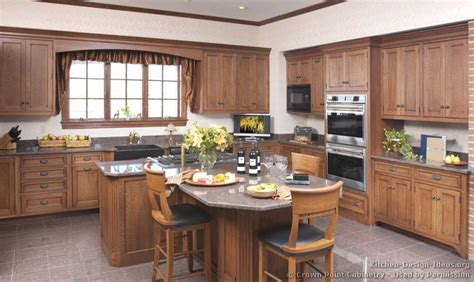 Natural Wood Kitchen Island by Country Kitchen Design Pictures And Decorating Ideas