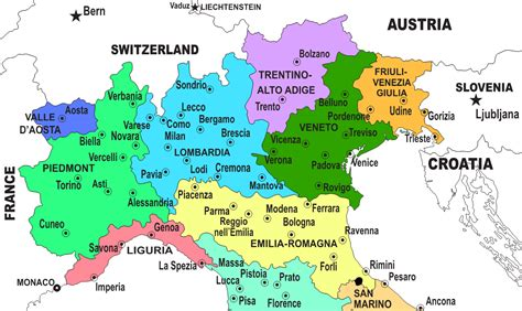 map of northern italy northern italy map my