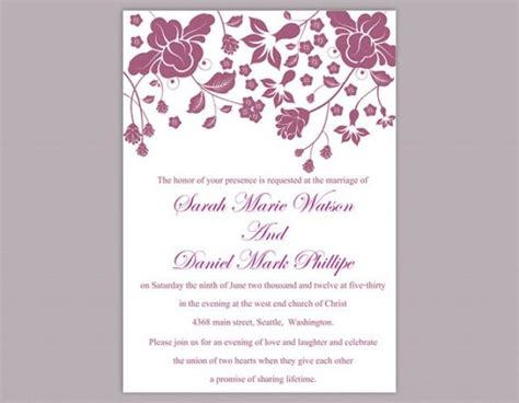 free editable wedding invitation templates diy wedding invitation template editable word file instant