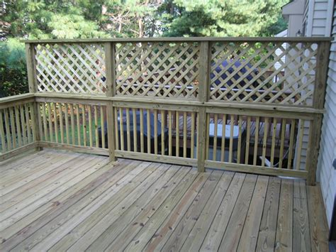 lowes hillsborough new jersey pressure treated deck with privacy lattice in hillsborough