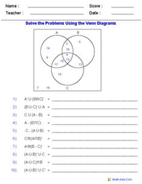 diagram to solve division venn diagram worksheets word problems using three sets i am using this worksheet for 8th grade