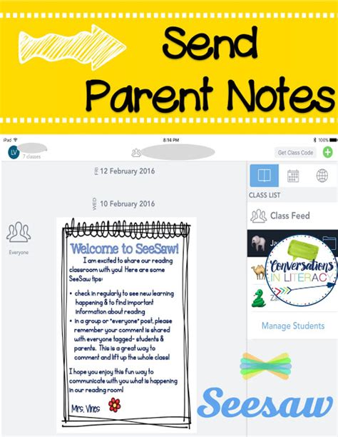 Parent Letter Seesaw Flapjack Educational Resources Seesaw App For Parent Communication Guest Post By