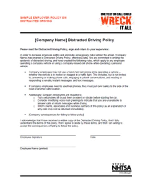 company driving policy template choice image templates