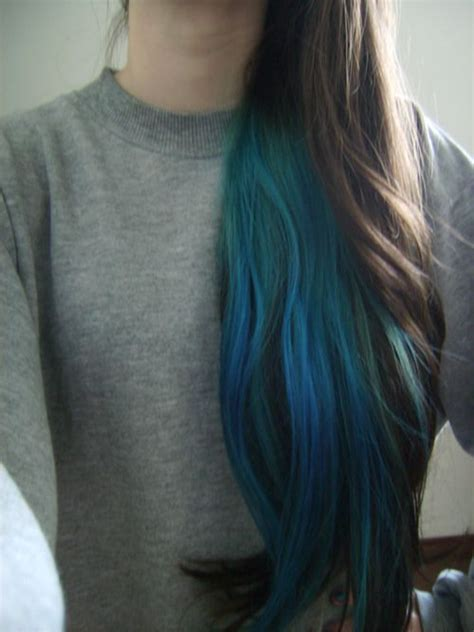 pictures of hair underneath under layer of hair dyed blue hair envy pinterest