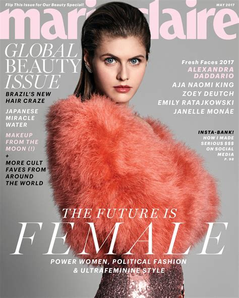 magazine may 2017 alexandra daddario for marie claire magazine may 2017