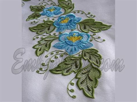 embroidery design for table cloth tablecloth quot spring quot 2 machine embroidery design