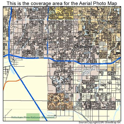 map of chandler arizona aerial photography map of chandler az arizona