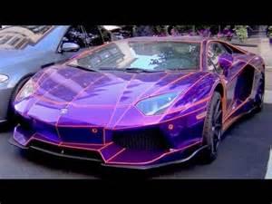 Pimped Lamborghini Aventador Chrome Purple And Orange Lb Performance Aventador Pimped