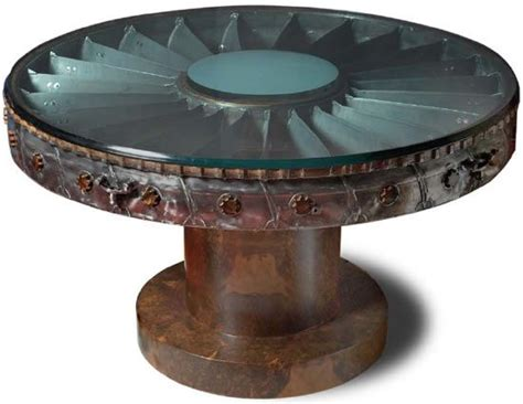 Engine Furniture by Airline Jet Engine Quot Fan Quot Table Aircraft Recycled Into
