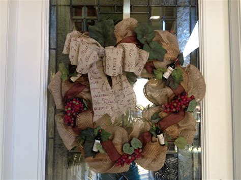 wine theme wreath wreaths and floral wreaths and burlap