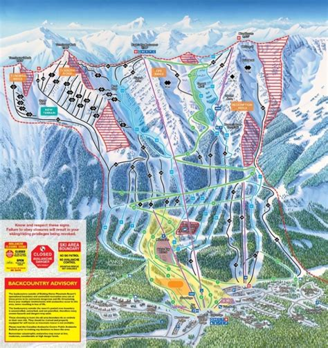 canada ski resort map kicking trail map
