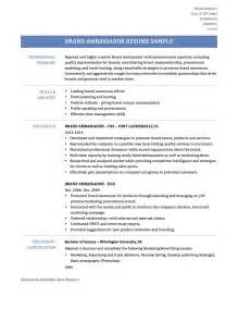 Promotional Resume Sample Brand Ambassador Resume Resume Format Download Pdf