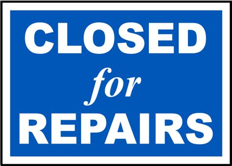 bathroom closed sign closed for repairs sign by safetysign com r5339