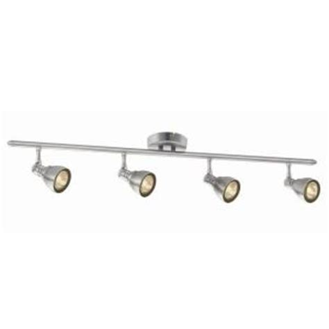 Home Depot Track Lights by Hton Bay 34 7 8 In 4 Light Brushed Nickel Fixed Track