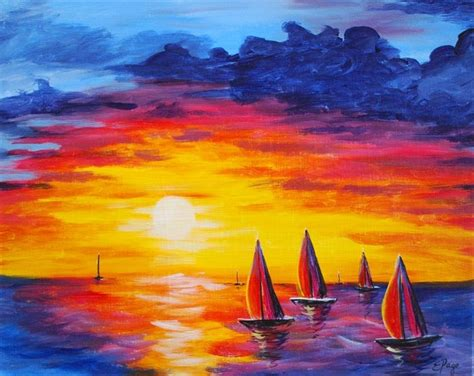 paint nite umami burger 16 best images about sunset on abstract