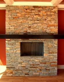 Fireplace Stone stacked stone for a fireplace home design