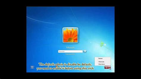 how to reset windows 7 password when locked out of dell acer hp sony toshiba lenovo