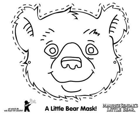 bear mask coloring page bear mask coloring pages coloring coloring pages