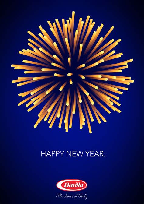 creative advertising happy new year from barilla art nectar