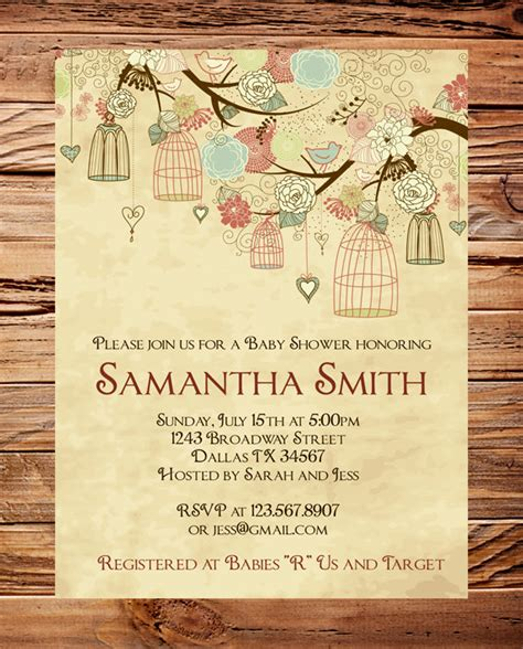 Vintage Baby Shower Invitations by Vintage Baby Shower Invitation Vintage By Stellardesignspro