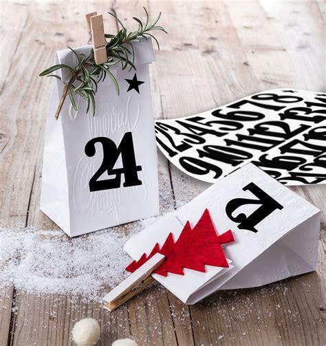 Sticker Weihnachten Schwarz by Zahlen Aufkleber F 252 R Adventskalender Schwarz