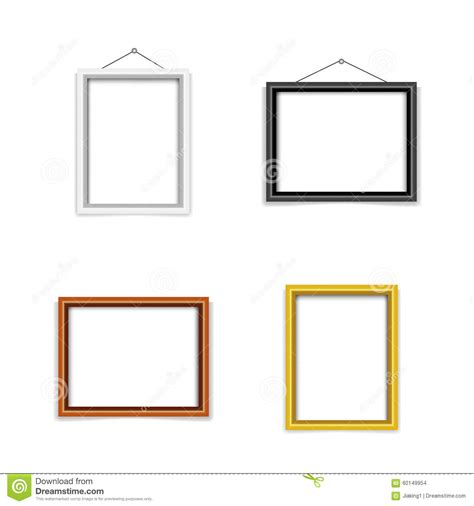 blank photo frame template set stock vector image 60149954