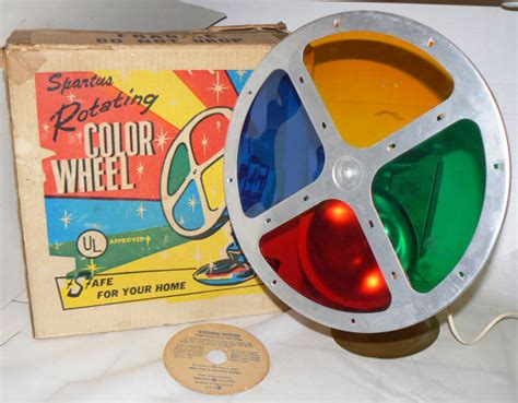 1950s spartus rotating color wheel 4 aluminum by krausehaus